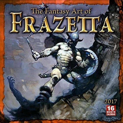 FANTASY ART OF FRANK FRAZETTA - 2017 CALENDAR