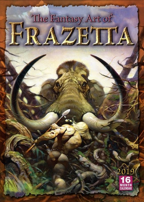 FANTASY ART OF FRANK FRAZETTA - 2019 CALENDAR