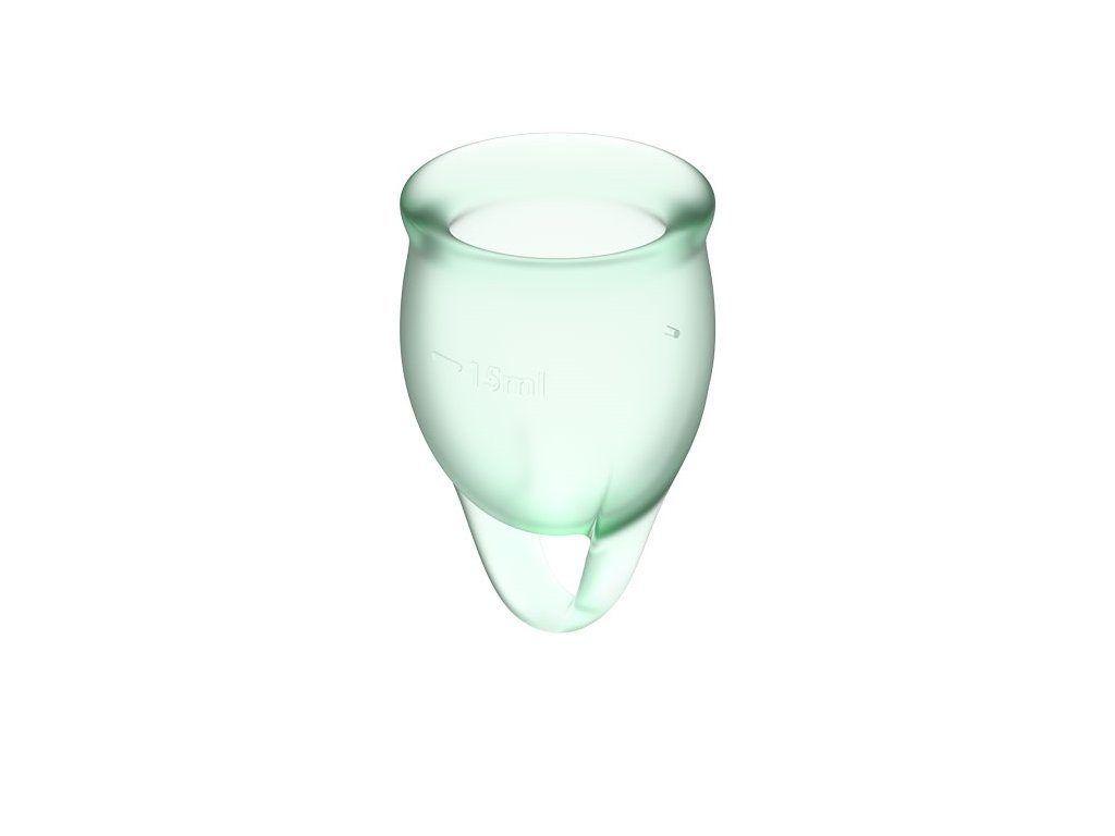Satisfyer Feel Confident menstruační kalíšky světle zelený 2 ks